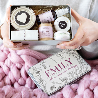 Personalised 'Be Happy' Deluxe Pamper Kit