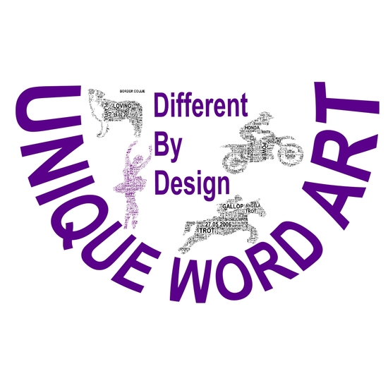 Logo including pictures of Unique Word Art