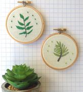 Hand embroidered pot plant