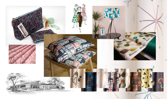 Retro fabrics and homeware
