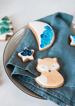 Hand painted watercolour Woodland Biscuits