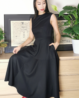 LAGOM Genoa Midi Dress Black