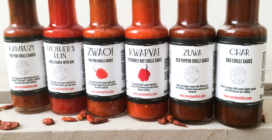 The Mushemi Fire chilli sauce range