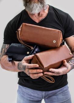 MAHI Leather Classic Washbags