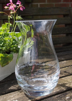 Personalised Glass Posy Vase