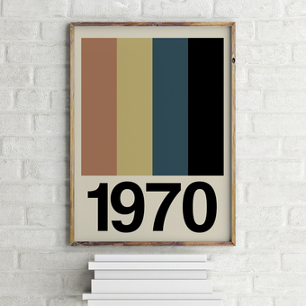 Personalised Retro Stripe Print