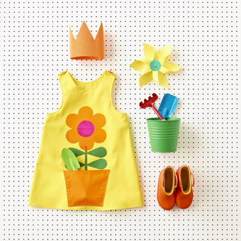 Yellow flower pinafore dress by Wild Things