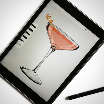 Cocktail cosmo drawing