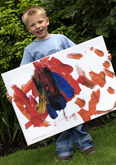 Child with Artwork