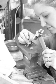 Alice making jewellery