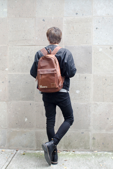 MAHI Leather Roma Backpack in Vintage Brown