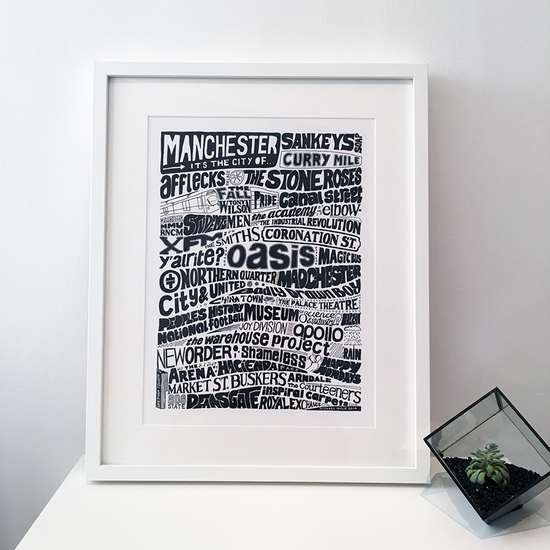 Manchester, it's the city of typography print
