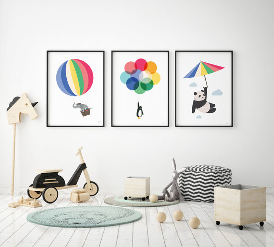 Mr Penguin Balloon Print