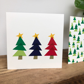christmas tree illustrated christmas card