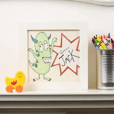 Personalised Little Monster tile