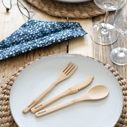 personalised bamboo cutlery set
