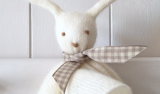 Purl English pure cashmere bunny comforter