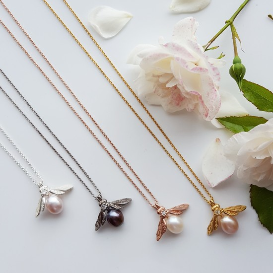 Pearl Bee Necklaces