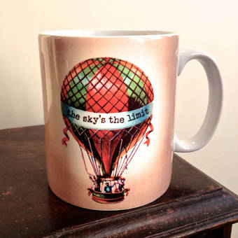 The Sky is The Limit Hot Air Balloon Mug