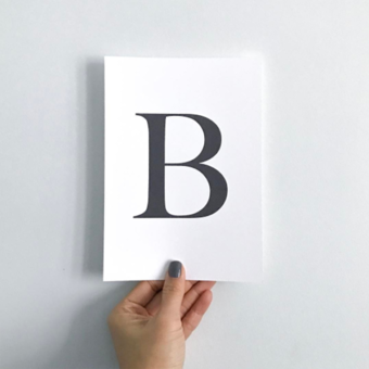Letter B feature typography serif print