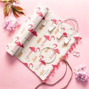Flamingo Jewellery Roll