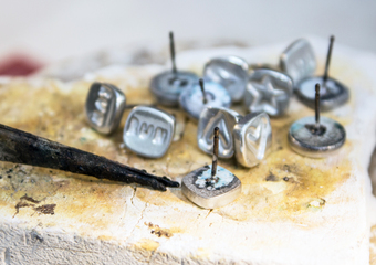 Making silver earrings