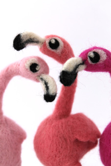 Fabulous Needle Feltedflamingos