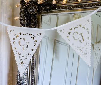 Laser cut fabric bunting, personalised for your event!