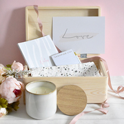 gift set for her in wooden box