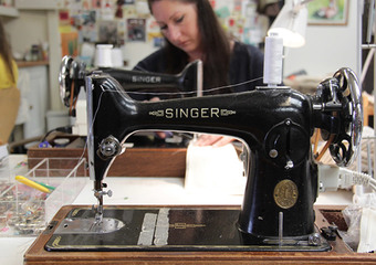 Singer sewing machines in the Poppy Treffry studio