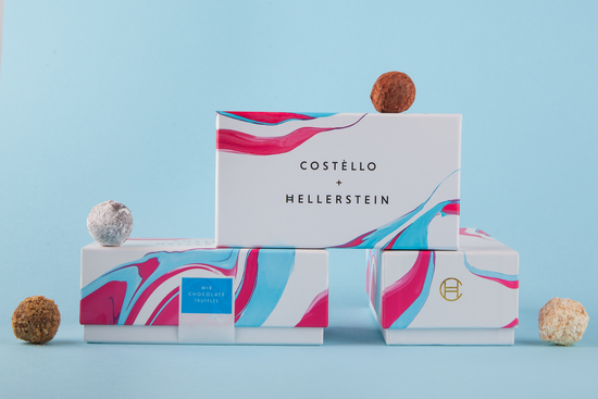 loose truffles on boxes