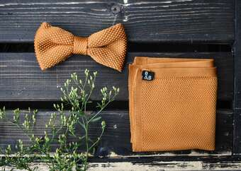 Knitted Bow Ties and Pocket Squares