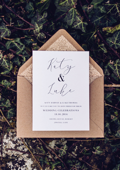 Confetti Designs Wedding Invitation