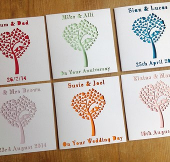 Personalised Laser cut Tree Card