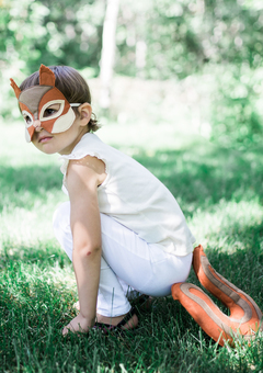 Kids' squirrel costume mask and tail