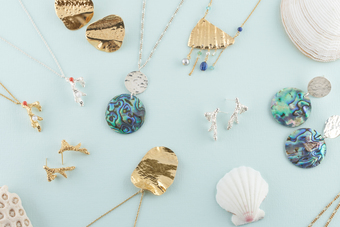 Sea and beach themed pieces from the Koral Collection.