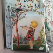 Hand printed story book illustration fragranced pillow