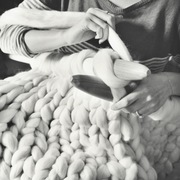 Lauren Aston Designs Chunky Knitting DIY giant knit kit to knit your own blanket