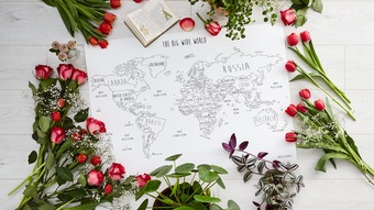 Louisa Elizabeth_Travel Map Poster Print_ The Big Wide World Map