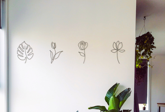 Wire Art Flower Collection