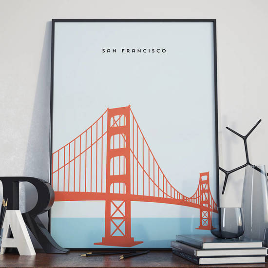 Most popular print, San Francisco's Golden Gate Bridge.