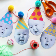 happy head personalised garland
