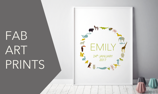 Personalised print for baby