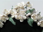 Victorian inspired Wax Flower bridal accessories the only collection of its kind in Europe!