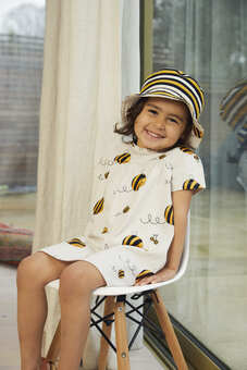 Bee Kind Dress and sunhat