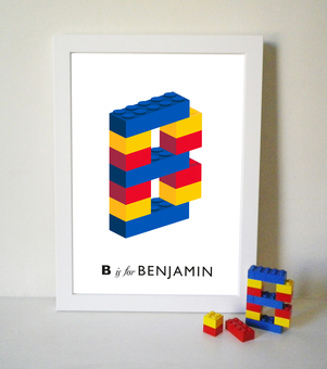 My new Lego Alphabet for personalised prints and cards