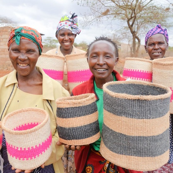 Weavers show off their handiwork