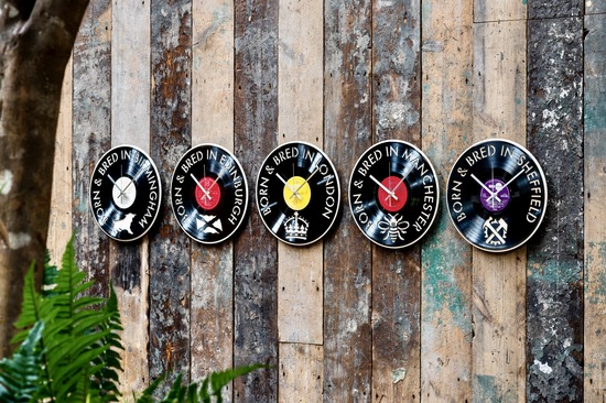 Blue Phoenix Vinyl Record Clocks