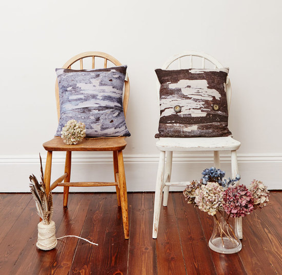abstract textured cushions