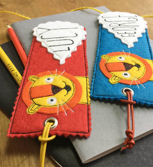 Happy Lion Bookmark